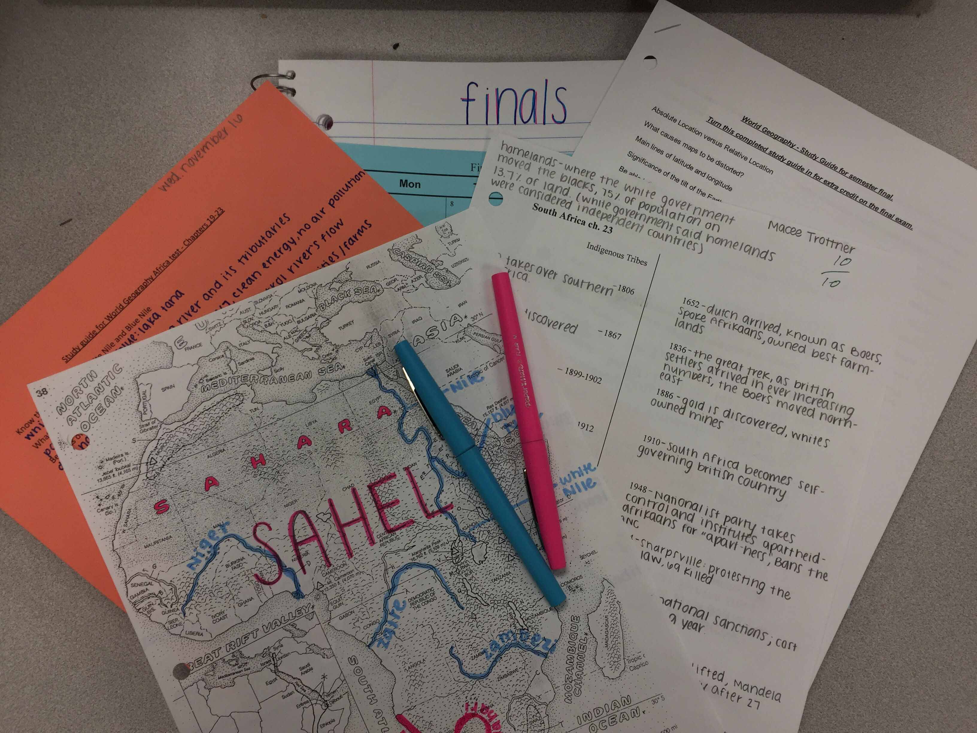 With finals week approaching, students start to prepare themselves for testing.