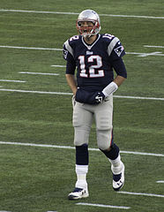 Tom Brady preparing for the AFC Championship game