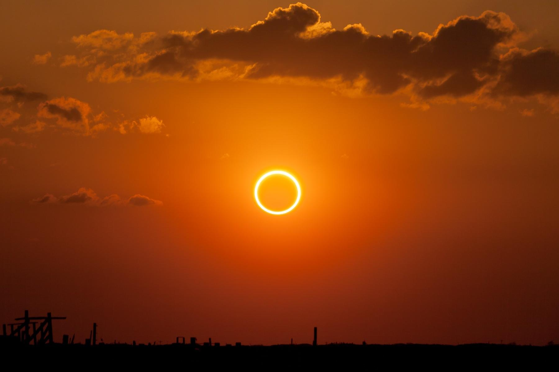 A solar eclipse similar to this will occur this year.