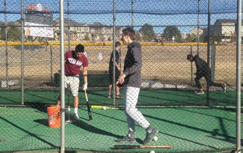 Hitting off Lewis-Palmer's baseball season