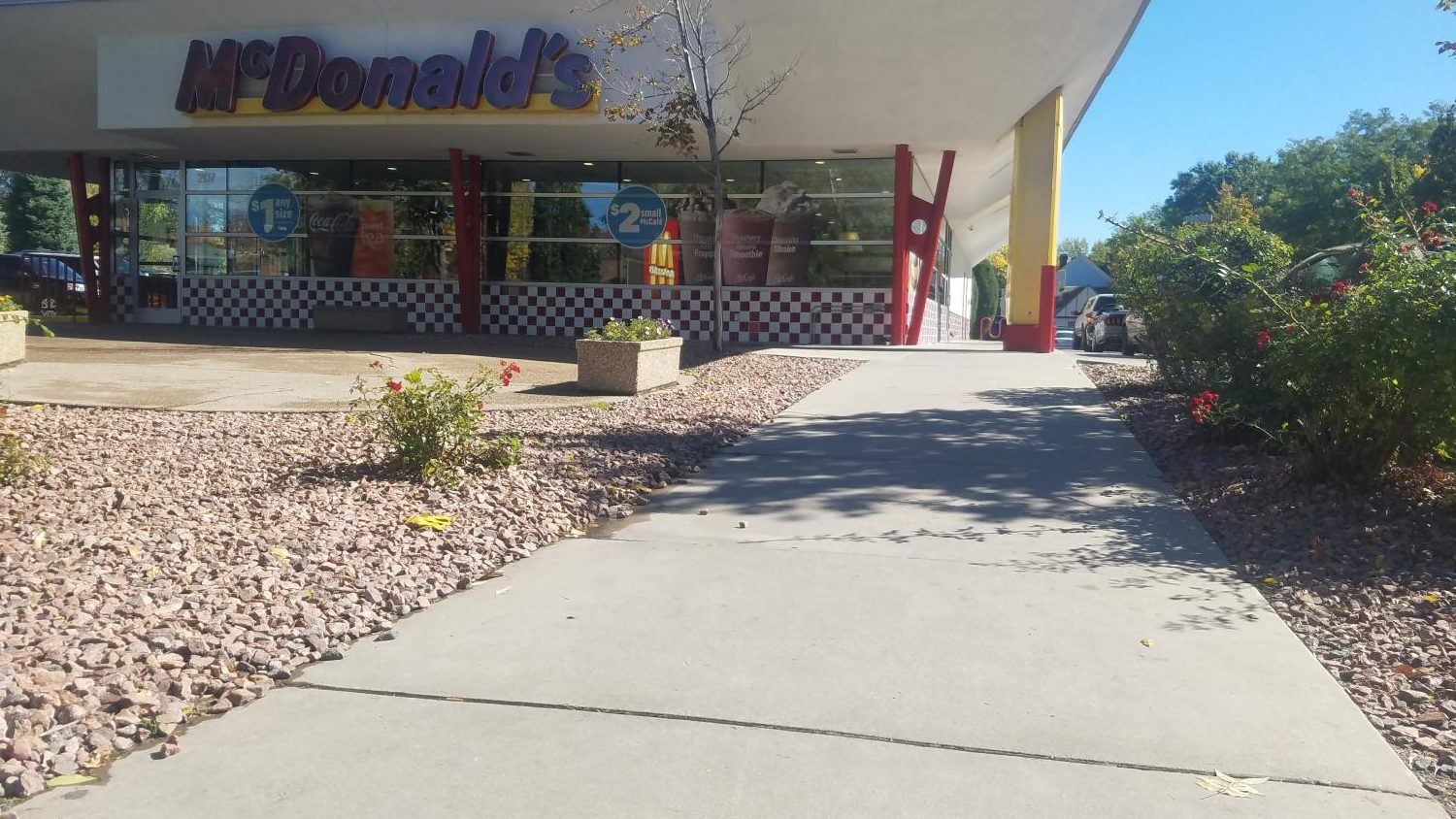 One of the three participating McDonald's  restaurants in the state of Colorado.