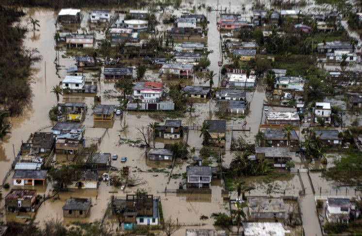 Damage+from+the+Puerto+Rican+hurricane+Maria+can+be+witnessed+from+an+aerial+view.