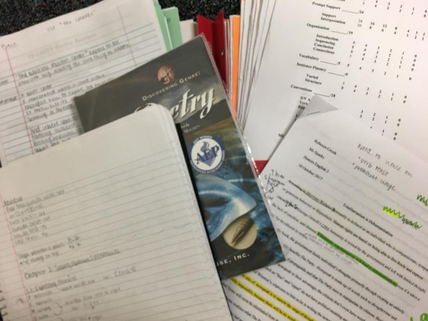 High school students are slammed with hours of homework every night with assignments like reading poetry and solving difficult math problems.