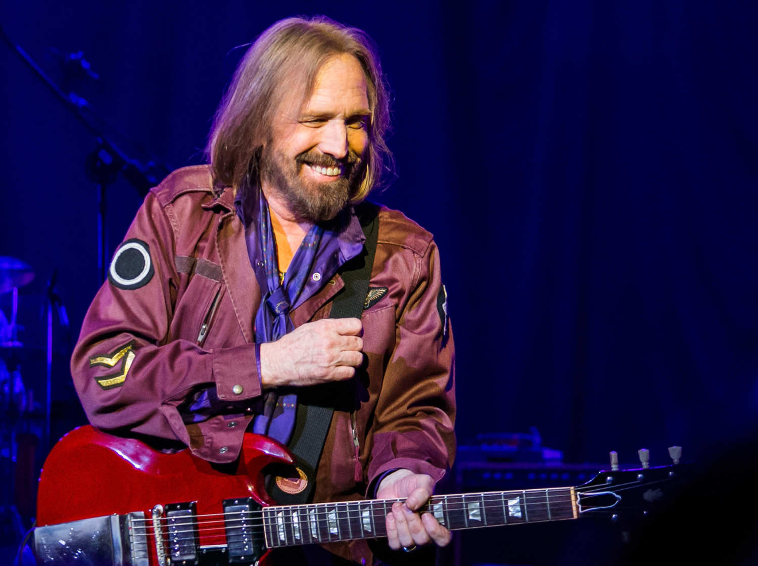 Tom Petty, who died on October 2, 2017, pictured at one of his concerts.