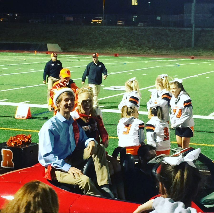 Lindsey+Purdham+and+Connor+Witt+riding+in+the+homecoming+parade+at+the+LPHS+homecoming+football+game.