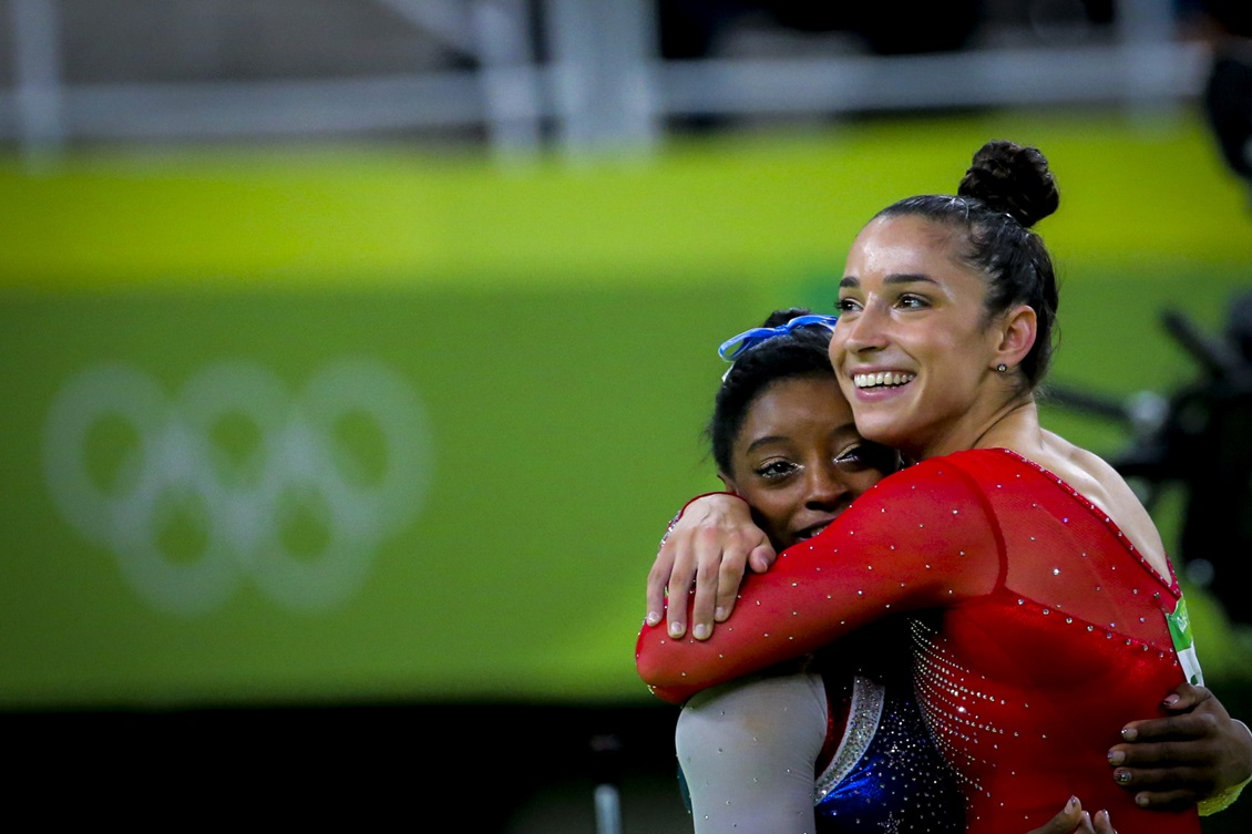 Biles (left) an Raisman (right) are both survivors of Nassar's sexual assault.