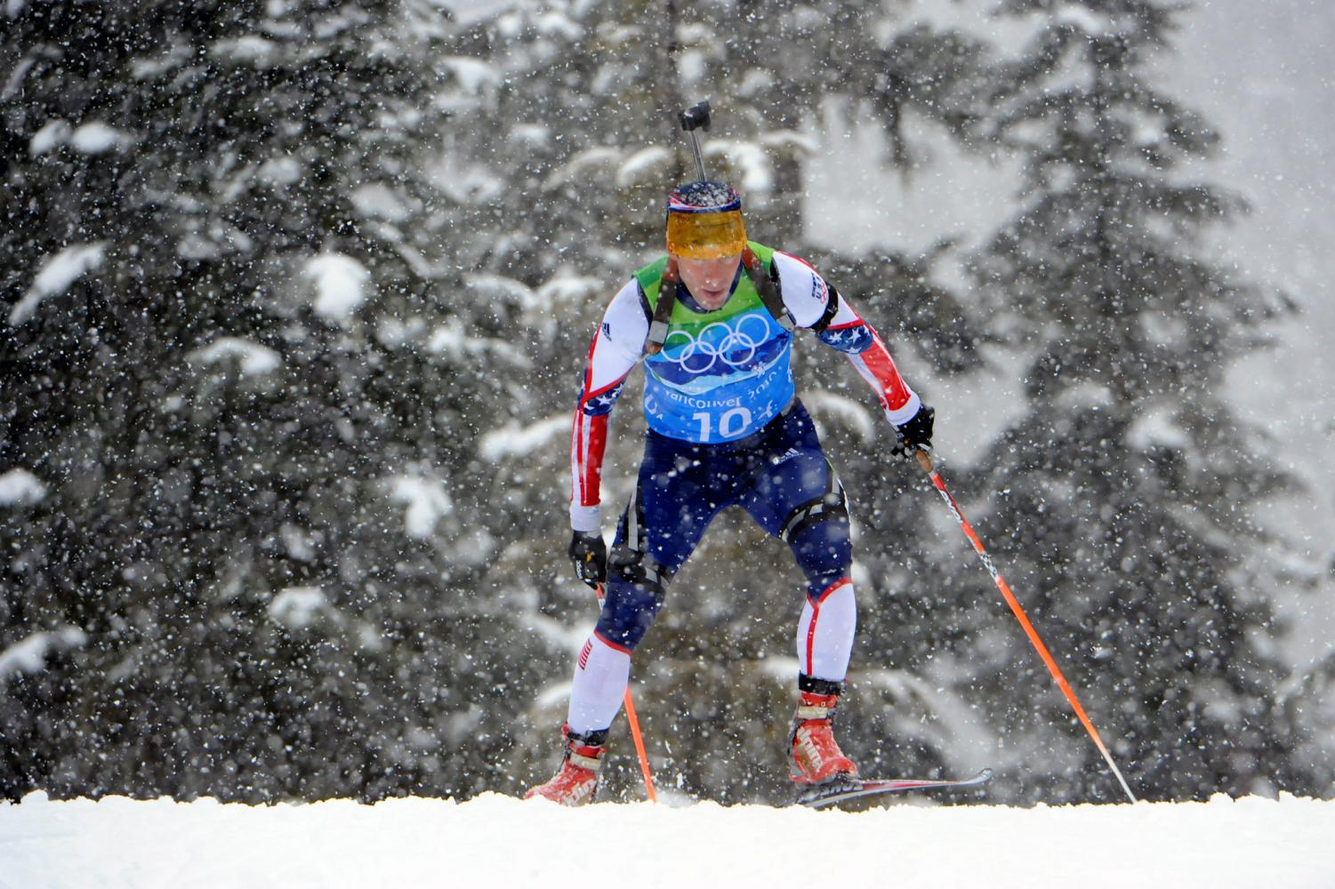 Olympic skier competing in the 2018 Winter Olympic games.