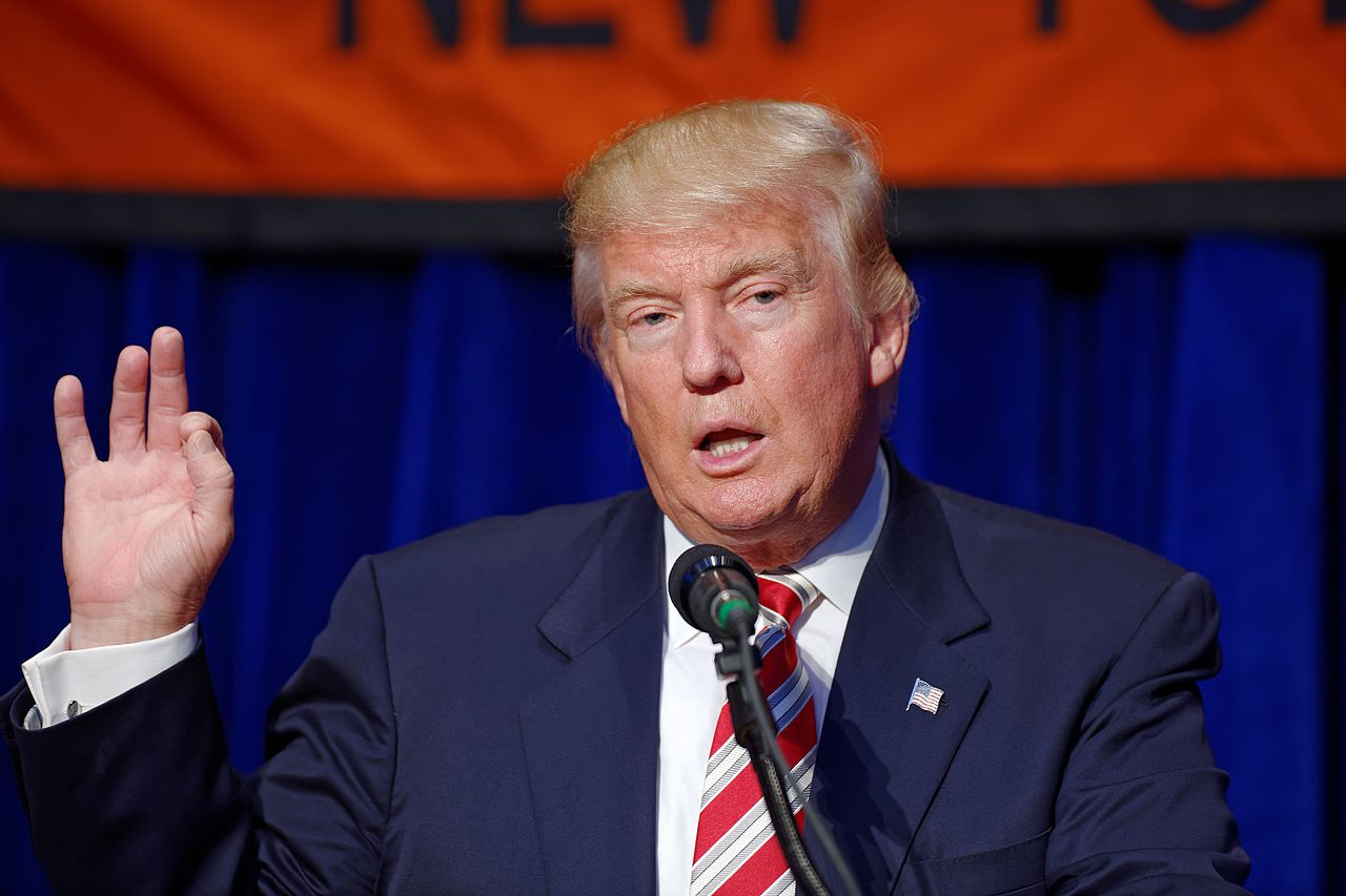 """President Trump responds to the op-ed piece written by a senior official in his administration and published by the New York Times. """"The failing New York Times has an anonymous editorial - can you believe it? Anonymous...meaning gutless - a gutless editorial,"""" Trump said in a National Public Radio Broadcast on September 5."""