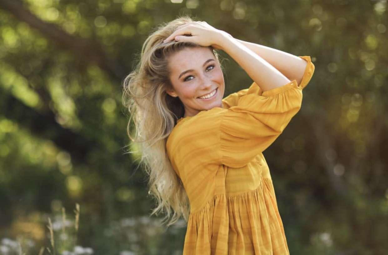 Rodenberg at her senior photo shoot.