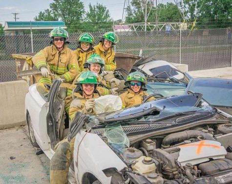 Student trains to be firefighter