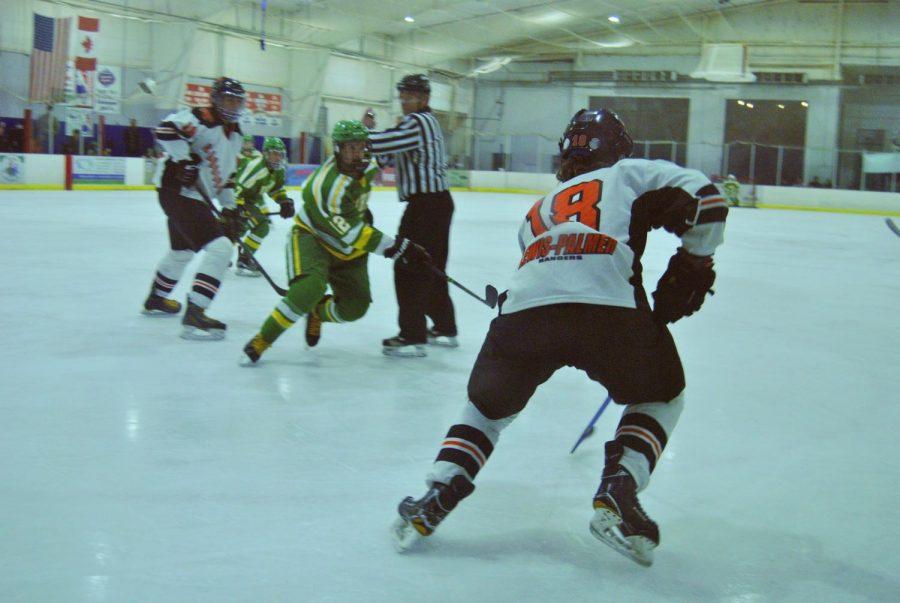 Varsity hockey team celebrates senior night