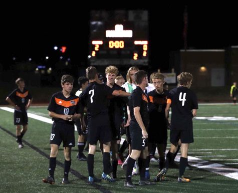 Lewis Palmer Soccer Boys win another game for the season,