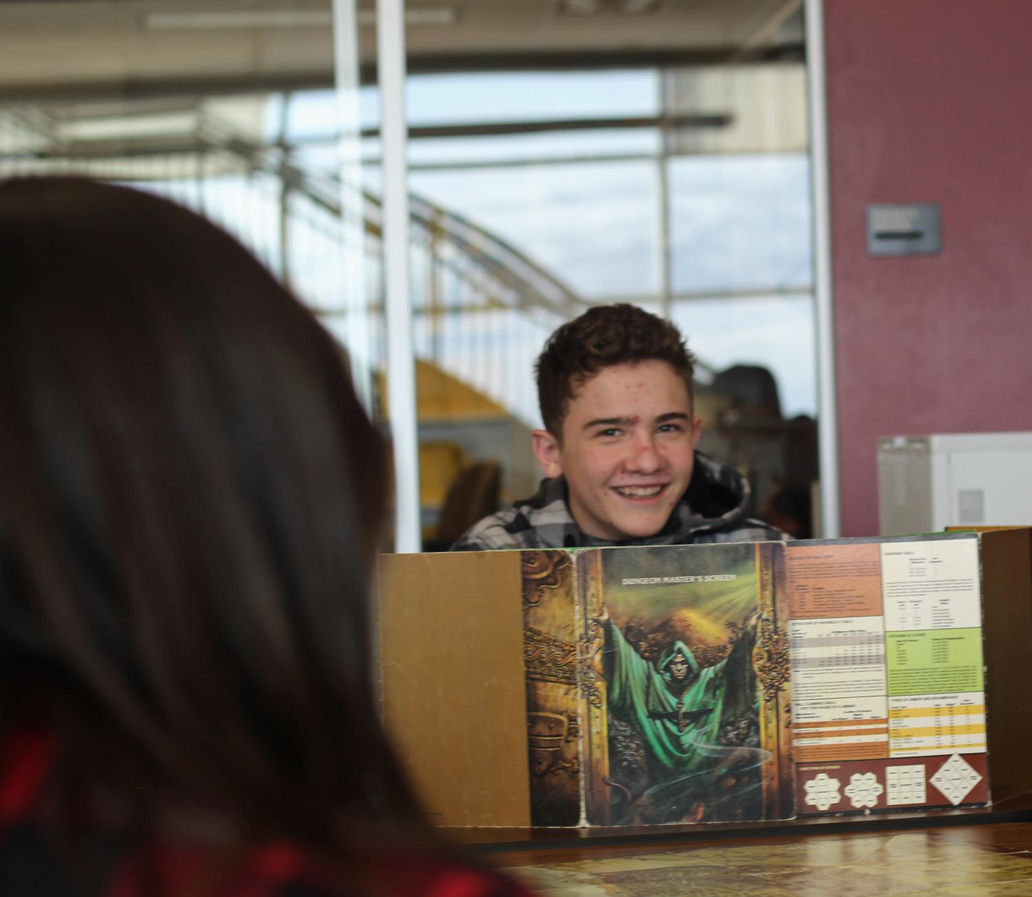 Matthew Gray plays Dungeons and Dragons with his friends.