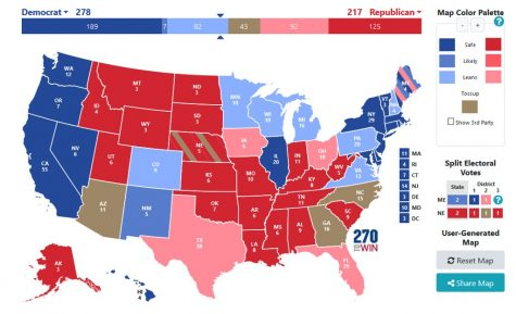 "Polls lean Democrat, yet battleground states decide the election. ""Early 2020 US Presidential Election prediction"" by Wordshore is licensed with CC BY-NC-ND 2.0. To view a copy of this license, visit https://creativecommons.org/licenses/by-nc-nd/2.0/"