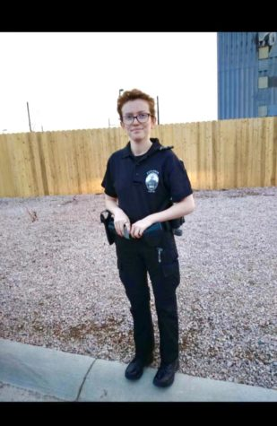 Brooke Kobact 11 ready for duty as a Police Explorer.