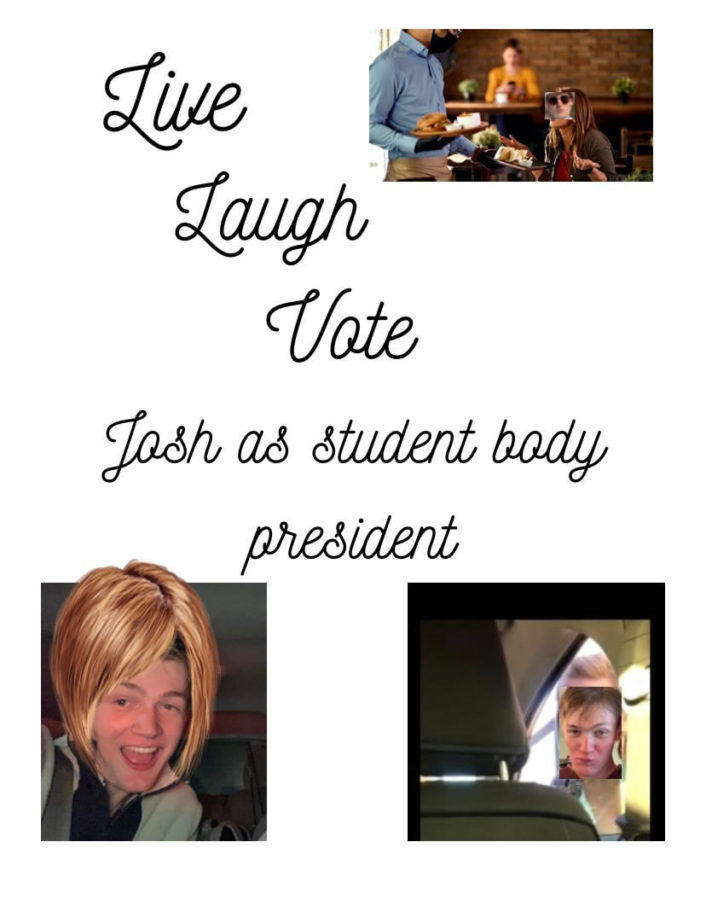 """Josh Brannan 11 is currently running for Student Class President. If Brennan were to win he would want to increase all school activity. """" I want everyone to be able to find where they click at this school."""""""