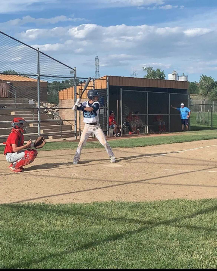 """Mason Perry 11 up to bat playing with his club team. """"Whenever I'm up to bat I'm pretty focused,"""" Perry said. """"I never freak out. I have my thoughts with me in the back of my head and I'll I'm thinking about is the next pitch I'm going to get."""""""