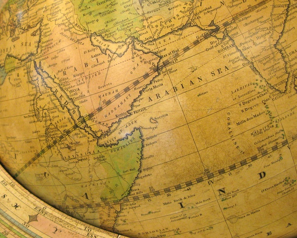 Photo of a globe courtesy of Creative Commons.