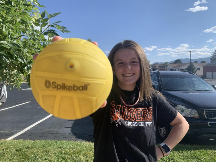 Sophia Lampros 10 shows off her SpikeBall that's going to be used in her next match. Her preparation for the game includes becoming 'one with SpikeBall' and listening to pumped up music.